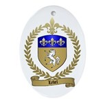 LEBEL Family Crest Oval Ornament