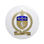 LEBEL Family Crest Ornament (Round)