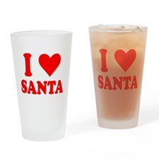I Love Santa Drinking Glass