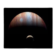 Jupiter and Io Throw Blanket