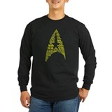 Star Trek Quotes (Insignia) Long Sleeve Dark Tee