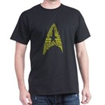 Star Trek Quotes Insignia Gold Dark T-Shirt