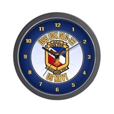 USS Fox Wall Clock