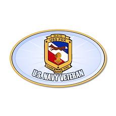 USS Fox 38.5 x 24.5 Oval Wall Peel