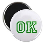 green OK Magnet