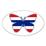 Thai Butterfly Flag Silhouette Decal