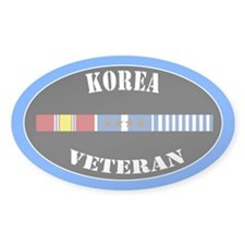 Korean War 4 Campaign Stars Decal