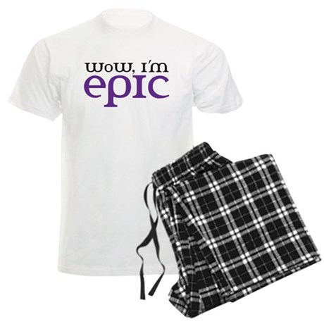 WoW i'm epic Men's Light Pajamas