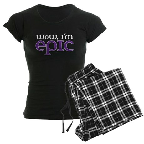 WoW i'm epic Women's Dark Pajamas