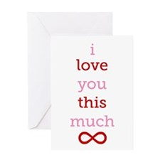 Infinitive Love Greeting Card