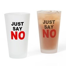 No to Drugs Drinking Glass