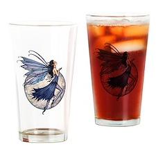 Midnight Blue Fairy Fantasy Art Drinking Glass