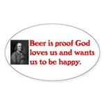 Ben Franklin: Beer Quote Sticker (Oval)