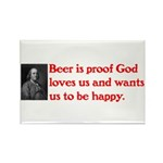 Ben Franklin: Beer Quote Rectangle Magnet (10 pack