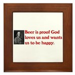 Ben Franklin: Beer Quote Framed Tile