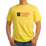 Ben Franklin: Beer Quote Yellow T-Shirt