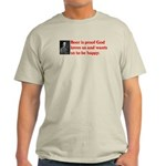 Ben Franklin: Beer Quote Light T-Shirt