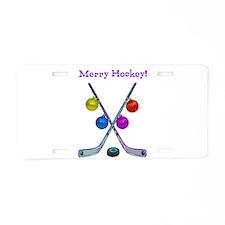 Cute Sports hockey Aluminum License Plate