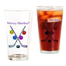 Cute Hockey season Drinking Glass