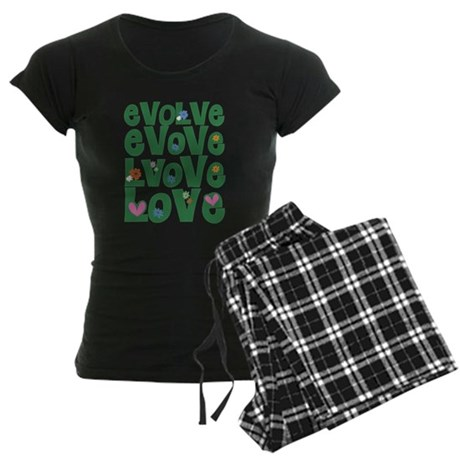Evolve Whimsical Love Women's Dark Pajamas
