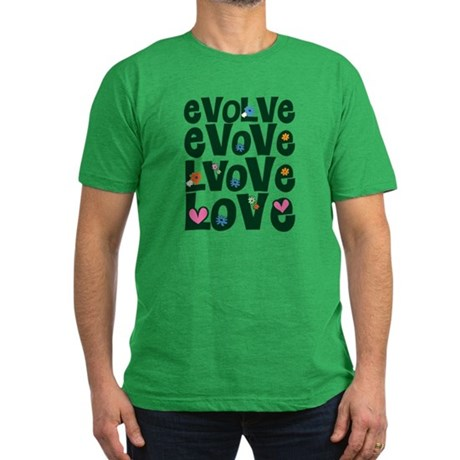 Evolve Whimsical Love Men's Fitted Dark T-Shirt