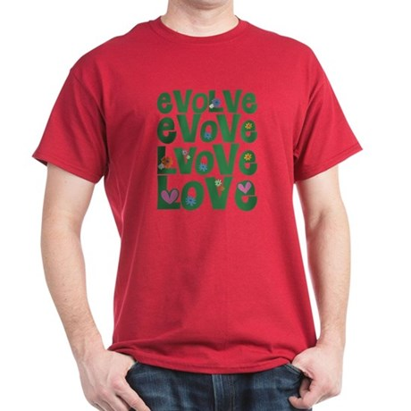 Evolve Whimsical Love Men's Dark T-Shirt
