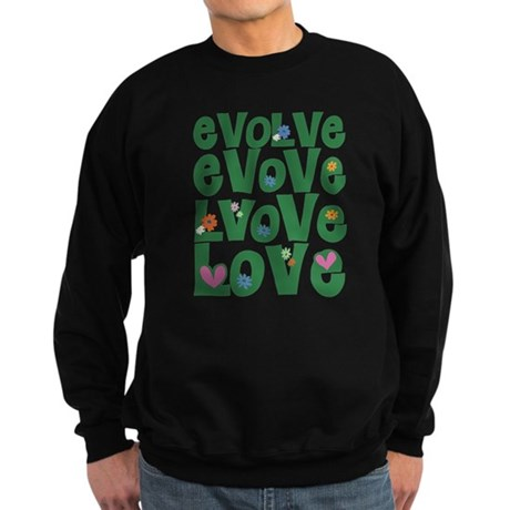 Evolve Whimsical Love Men's Dark Sweatshirt