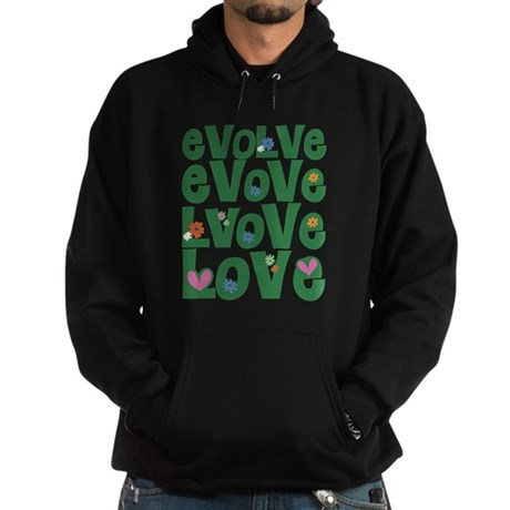 Evolve Whimsical Love Men's Dark Hoodie