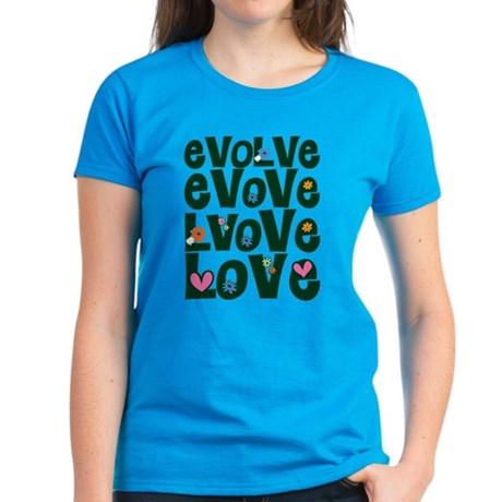 Evolve Whimsical Love Women's Dark T-Shirt