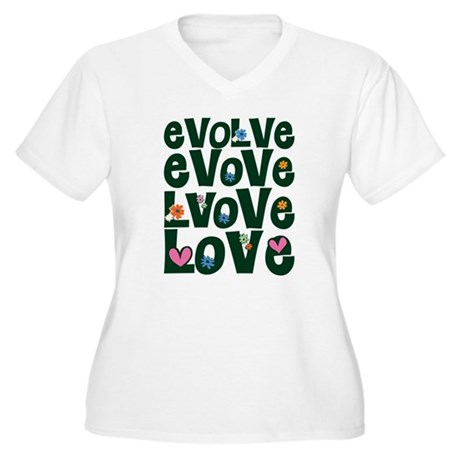 Evolve Whimsical Love Women's Plus Size V-Neck T-Shirt