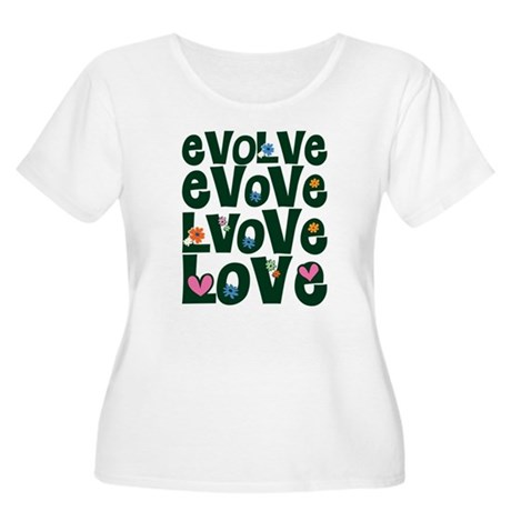 Evolve Whimsical Love Women's Plus Size Scoop Neck T-Shirt