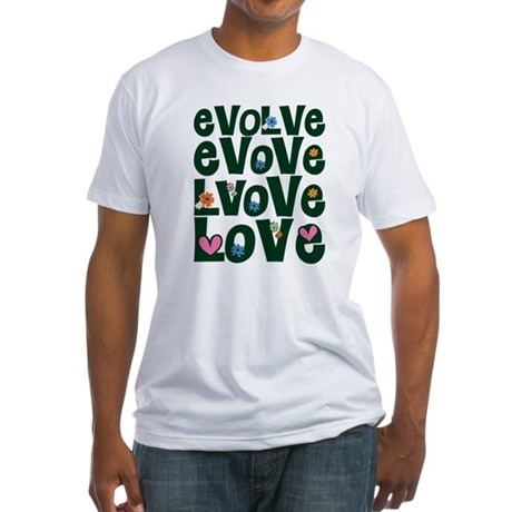 Evolve Whimsical Love Men's Fitted T-Shirt