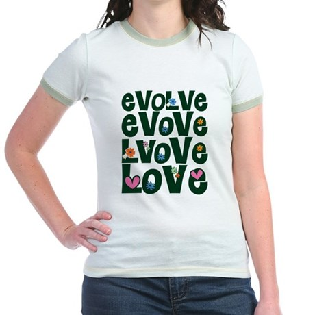 Evolve Whimsical Love Junior Ringer T-Shirt