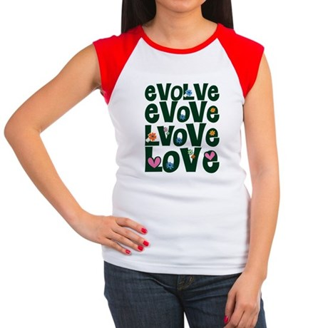 Evolve Whimsical Love Women's Cap Sleeve T-Shirt