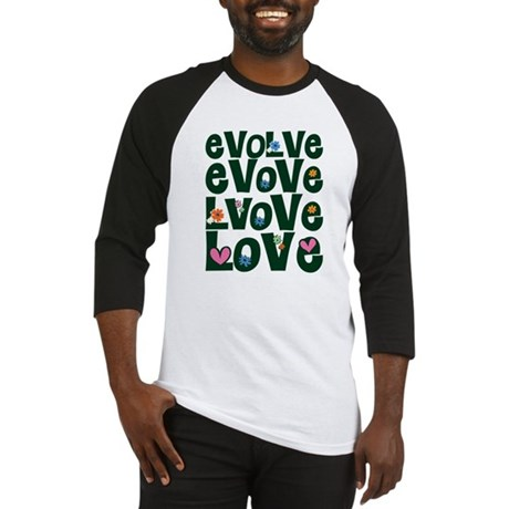 Evolve Whimsical Love Men's Baseball Jersey