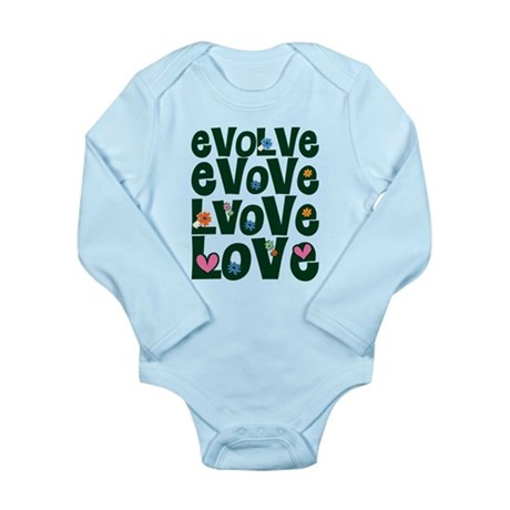 Evolve Whimsical Love Long Sleeve Infant Bodysuit