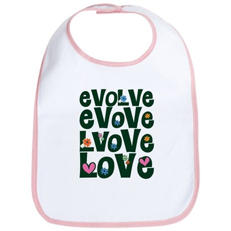 Evolve Whimsical Love Baby Bib