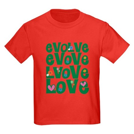 Evolve Whimsical Love Kids Dark T-Shirt