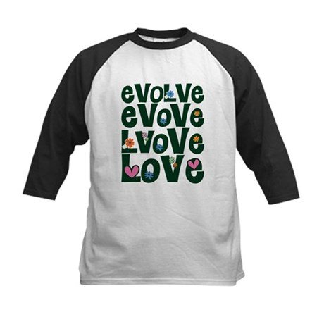 Evolve Whimsical Love Kids Baseball Jersey