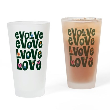 Evolve Whimsical Love Drinking Glass