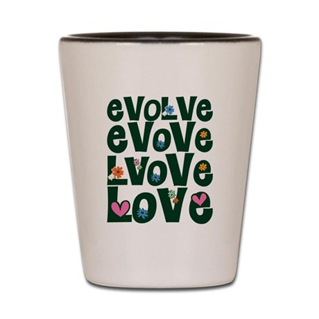 Evolve Whimsical Love Shot Glass