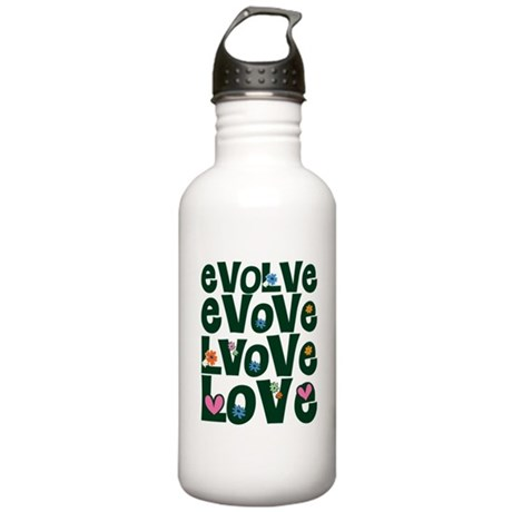 Evolve Whimsical Love One Liter Stainless Water Bottle