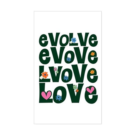 Evolve Whimsical Love Rectangle Sticker