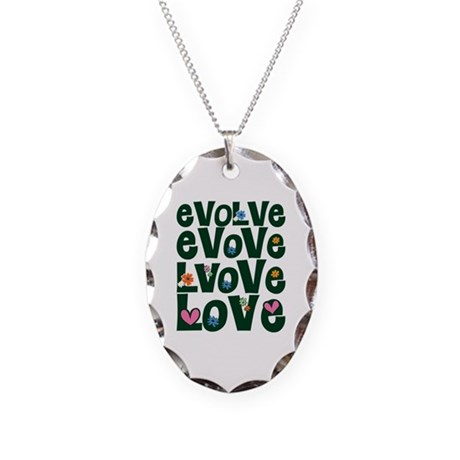 Evolve Whimsical Love Necklace with Oval Charm