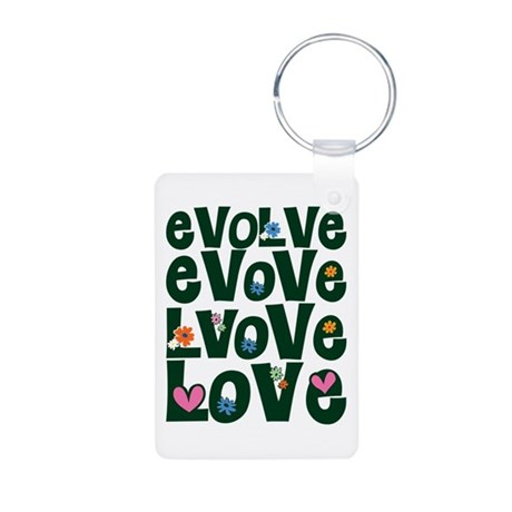 Evolve Whimsical Love Aluminum Rectangle Keychain