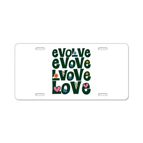 Evolve Whimsical Love Aluminum License Plate