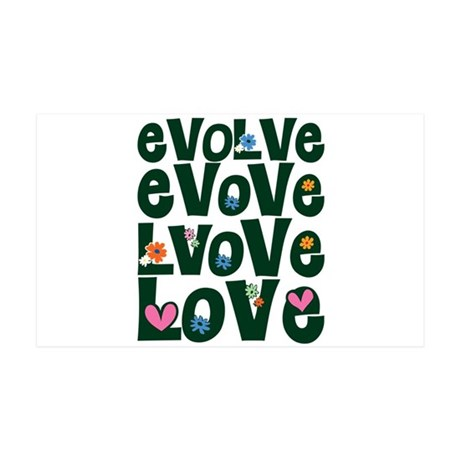 Evolve Whimsical Love 38.5x24.5 Wall Peel
