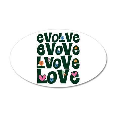 Evolve Whimsical Love 38.5x24.5 Oval Wall Peel