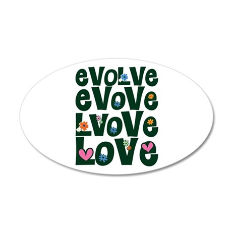 Evolve Whimsical Love 22x14 Oval Wall Peel