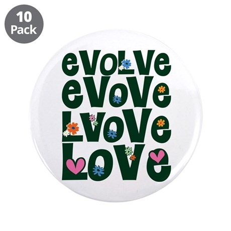 Evolve Whimsical Love 3.5 Inch Buttons ~ Pack of 10